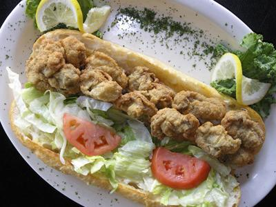 Oyster Poboy, dressed